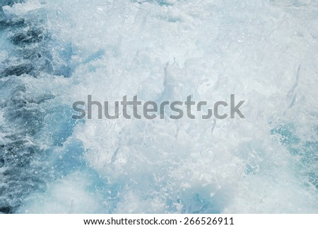 Abstract wave bubble Stop action Churning sea water with high shutter speed Messy water wave texture - stock photo