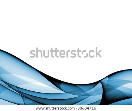 abstract wave composition