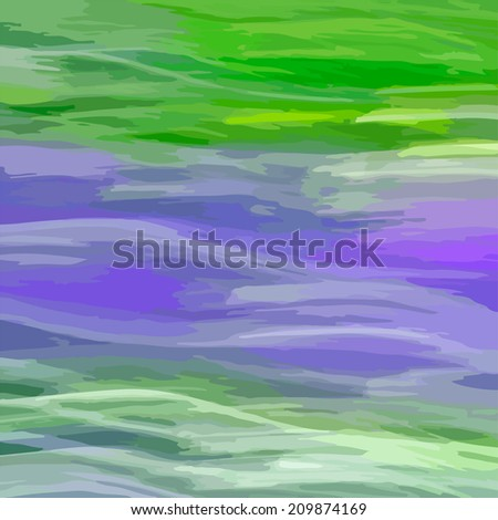 Abstract waved colorful background. Square illustration of natural camouflage material. - stock photo