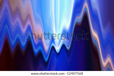 Abstract wavy background in blue tones.