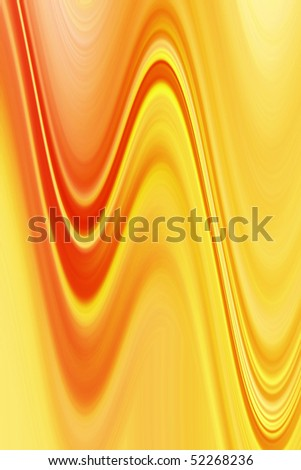 Abstract wavy background in orange and yellow tones.