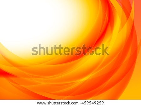 Abstract wavy background orange