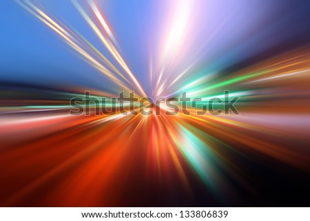 abstract wavy frame - stock photo