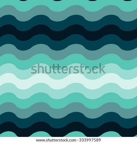 Abstract wavy ocean seamless pattern background.  Illustration