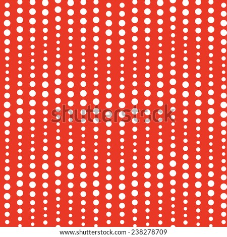 Abstract wavy seamless pattern, bright red background. Raster version. - stock photo