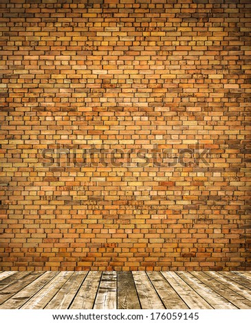 Abstract weathered stone texture of stained old dark stucco gray and painted red, brown, yellow brick wall background in rural room, grungy rusty blocks of stonework technology architecture wallpaper - stock photo