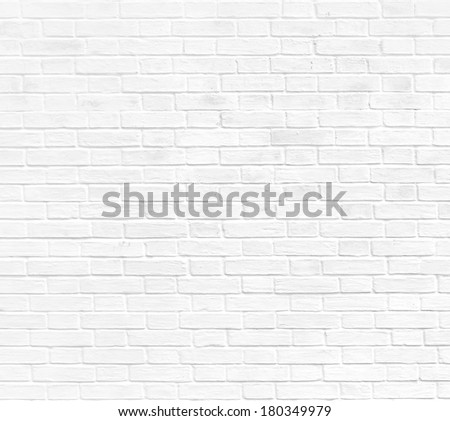 Abstract weathered texture stained old stucco light gray and aged paint white brick wall background in rural room, grungy rusty blocks of stonework technology color horizontal architecture wallpaper - stock photo