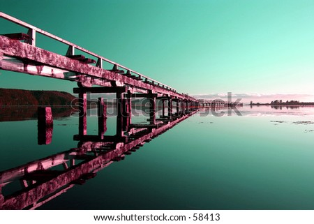 Abstract Wharf 2 - stock photo