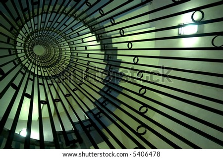 abstract whirled staircase - stock photo