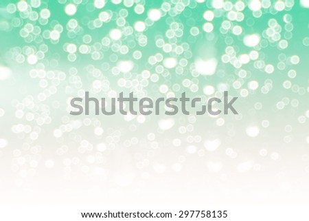 abstract white and blue green pastel colors background of bokeh lights or bubbles in soft  colors