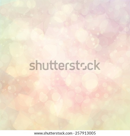 abstract white and pastel colors background of bokeh lights or bubbles in soft spring colors - stock photo