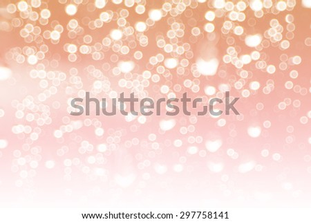 abstract white and red pastel colors background of bokeh lights or bubbles in soft  colors