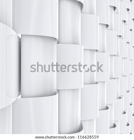 Abstract white background. - stock photo