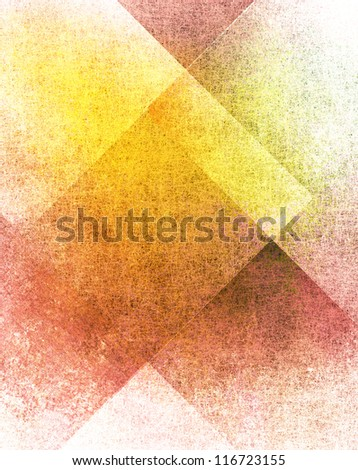 abstract white background or red background with old parchment grunge texture in plaid art background block layout design with yellow gold color accent on paper with vintage grunge background texture - stock photo