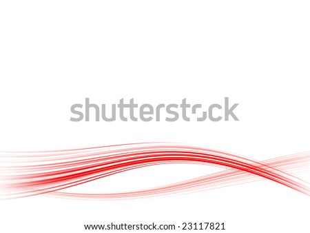 Abstract white background with red lines - stock photo