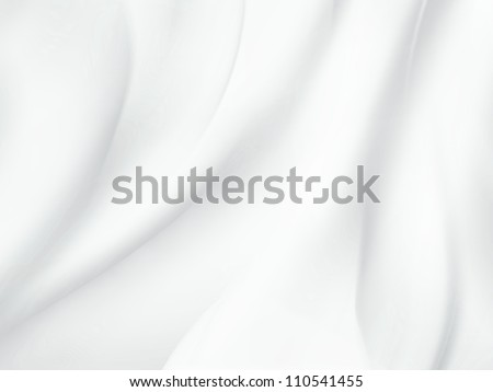 abstract white background with soft waves - stock photo