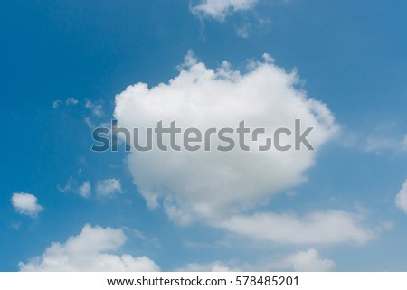 Abstract white cloud on blue sky background