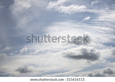 Abstract white cloud over blue sky background