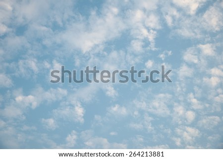 Abstract white cloud over clear blue sky background