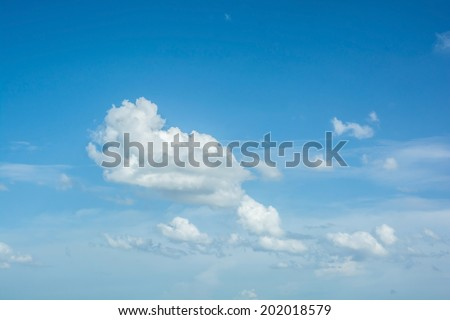abstract white clouds on blue sky