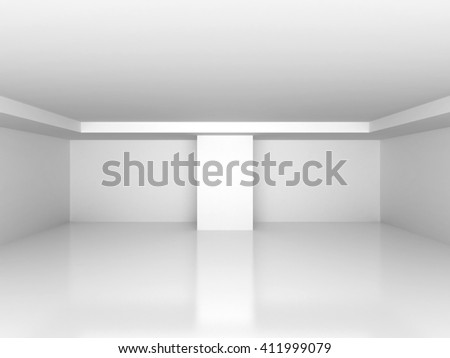 Abstract white empty interior background. 3d render illustration