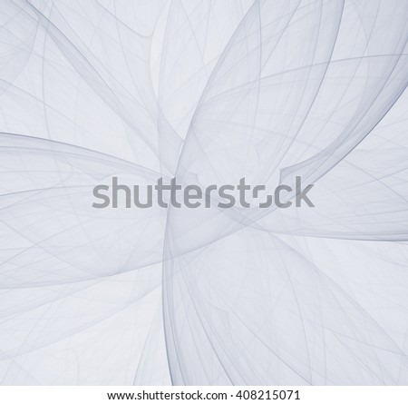Abstract white fractal background, concept of mystery. - stock photo