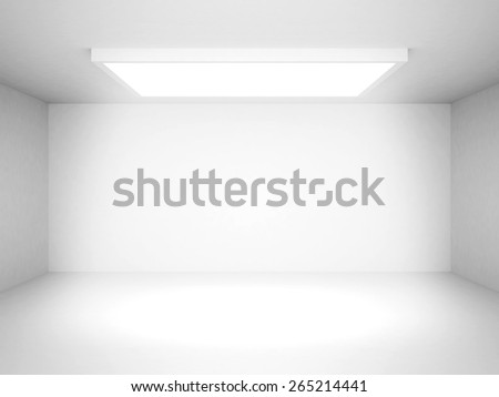 Abstract White Futuristic Interior Background. 3d Render Illustration - stock photo
