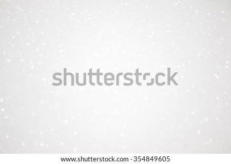 Abstract white glitter sparkle background - stock photo