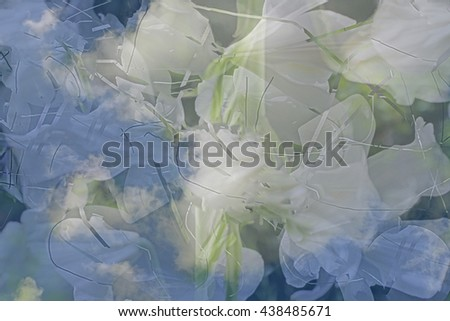 Abstract white,  green, blue and yellow background  illustration