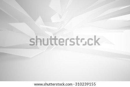 Abstract white interior. 3D illustration. 3D rendering - stock photo