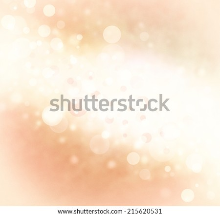 abstract white orange bubble background, bright stripe of white bokeh lights background design on faded peach color border, sparkles and shimmery circle shape background  - stock photo