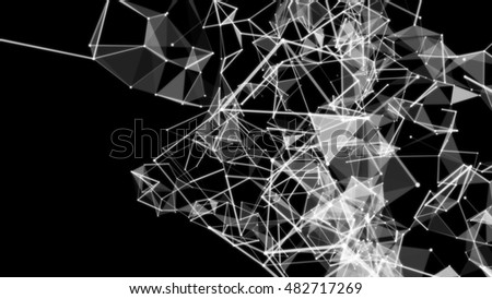 Abstract white plexus background. You can change the colors and use different types of overlay to create stunning backdrops on various topics. Use your imagination to the full.