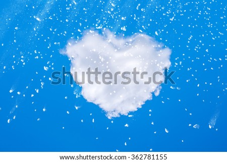 abstract white powder with white cloud - stock photo