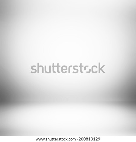 Abstract white room background - stock photo