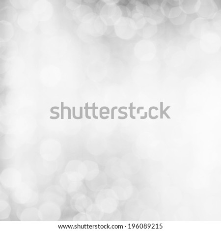 Abstract white shiny lights, silver background - stock photo