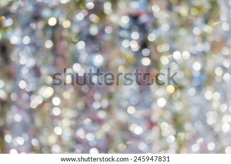 abstract white silver bokeh background with texture - stock photo