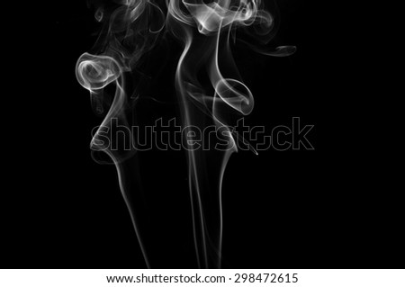 abstract white smoke on black background ink beautiful
