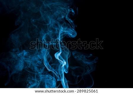 abstract white smoke on white background, smoke background ,blue smoke background - stock photo