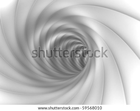 Abstract White Tunnel - stock photo