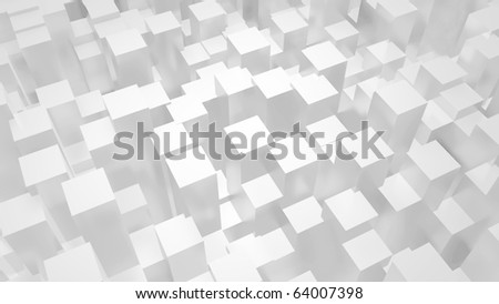 abstract white urban 3d background - stock photo