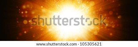 Abstract wide background - big explosion - stock photo