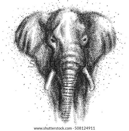 Indian Elephant Headdress Drawing
