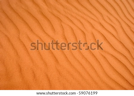 Abstract Wind Patterns in Sand - stock photo