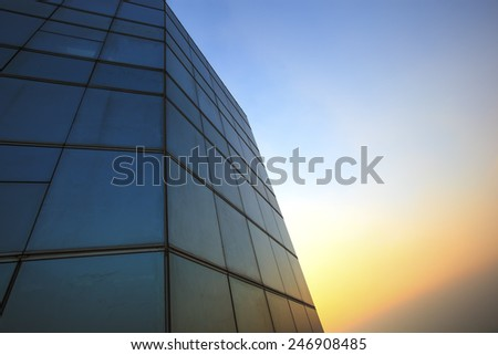 abstract window, view of sky - stock photo