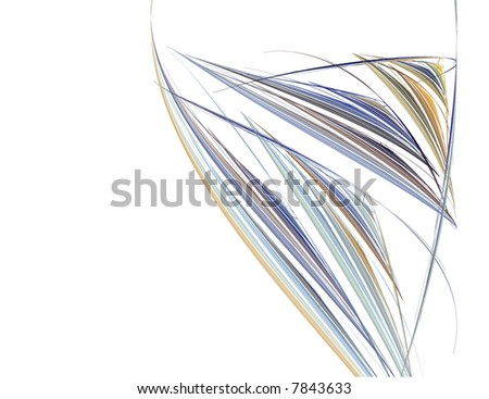 Abstract Wine Glass Against a White Background - stock photo