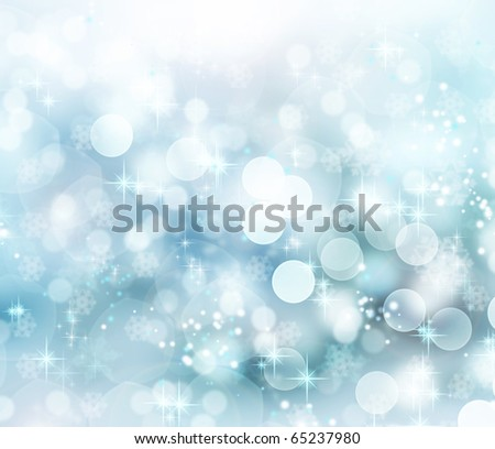 Abstract Winter background  bokeh - stock photo
