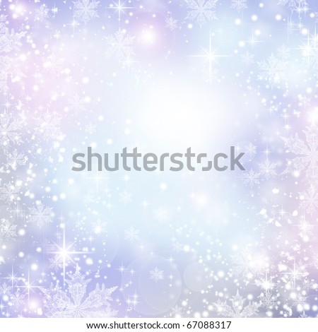 Abstract Winter background.Christmas abstract bokeh - stock photo
