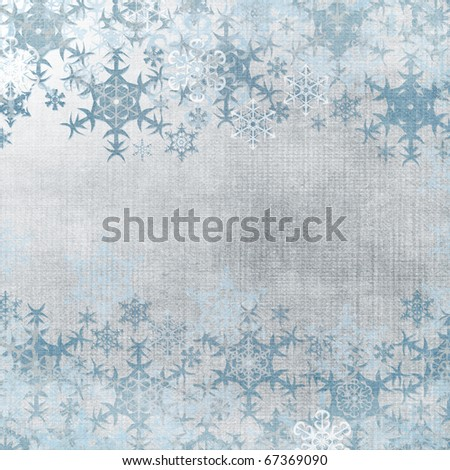 Abstract winter background with snowflakes and place for text (1 of set ) - stock photo