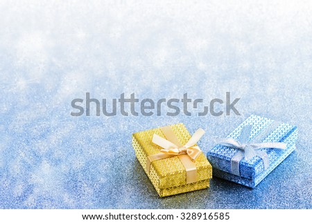 Abstract winter blue christmas holiday background