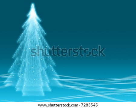 Abstract winter blue illusion as a background with free space for individual content - stock photo